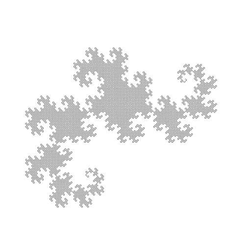 Dragon curve example.  #fractal #dragoncurve