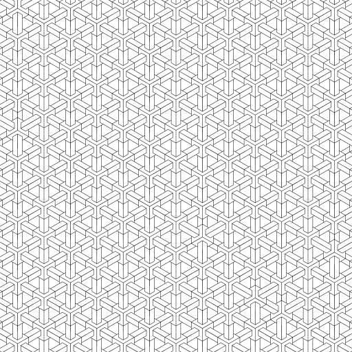 Hexagons everywhere.  #hexagons #escher