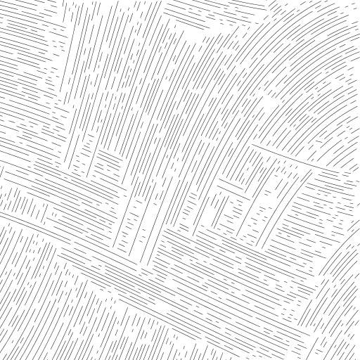 A turtle walking through different curl noise fields.