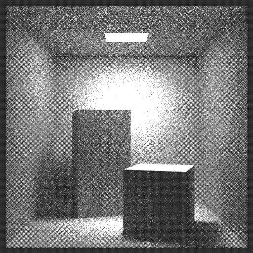 "Somebody had to... I have created a path tracer to render the Cornell Box (https://en.wikipedia.org/wiki/Cornell_box). Ray trace code base on the (excellent) book ""Ray tracing in one weekend"" (http://in1weekend.blogspot.com/2016/01/ray-tracing-in-one-weekend.html) by Peter Shirley (@Peter_shirley).  The code is simplified for this specific scene, and I have added direct light sampling to reduce noise.  #raytracer #pixels #rays #dithering"