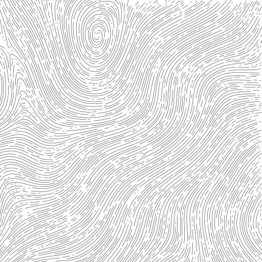 A turtle is walking through a curl noise field.