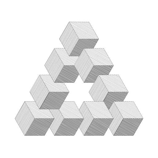 I have added a (slow) hatching option to the polygon routines of https://turtletoy.net/turtle/348e597fd8.  #polygons #Escher
