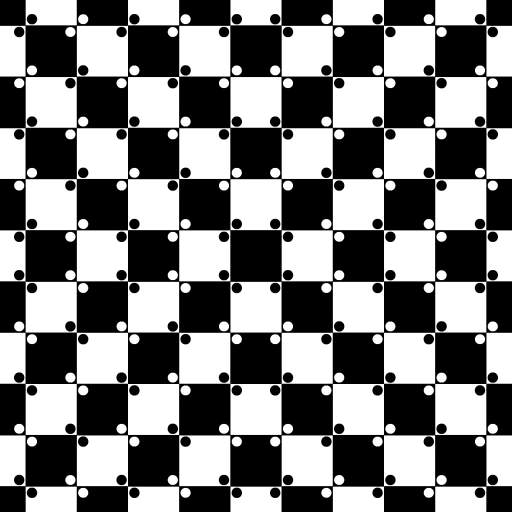 Buldging checkerboard