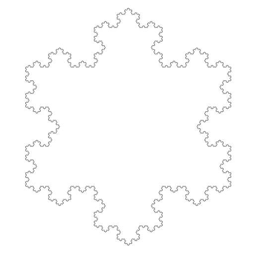 An L-system or Lindenmayer system is a parallel rewriting system and a type of formal grammar: https://en.wikipedia.org/wiki/L-system.  #fractal #lsystem #snowflake