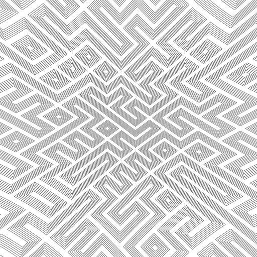 There are only 2 type of tiles (or 3 if you enable crossing lines) randomly placed on a grid. Didn't realize this is also some kind of maze generator :)   ---  Update: added a barrel transform on top of everything to make it more impressive.