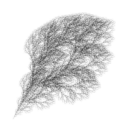 Fractal plant by Paul Bourke: http://paulbourke.net/fractals/lsys/  #fractal #lsystem