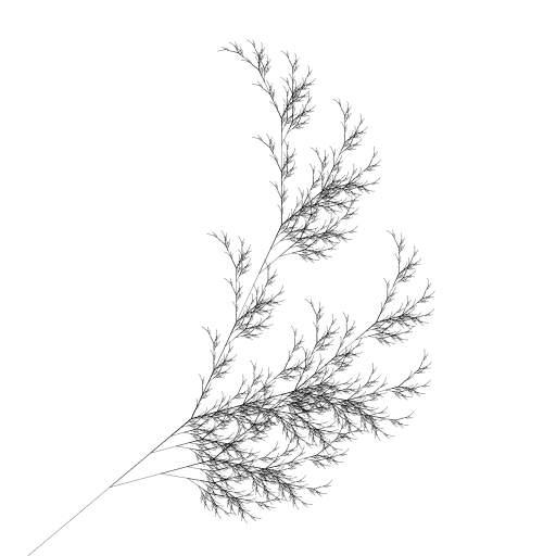 Fractal plant: https://en.wikipedia.org/wiki/L-system#Example_7:_Fractal_plant  #fractal #lsystem