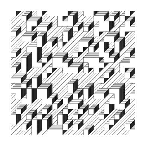 """Reimplementation of Edward Zajec's """"Il Cubo"""" from 1971. Based on the images from http://www.edwardzajec.com/tvc4/pil1/index.html (I don't speak Italian)."""