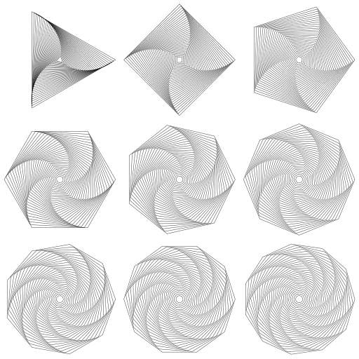 A study in rotating shapes.