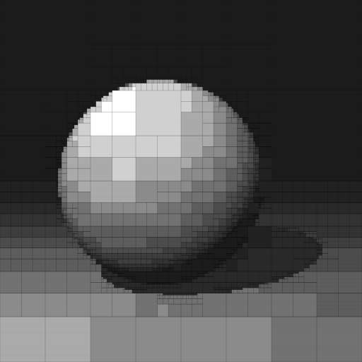 Raytraced Sphere with Quads
