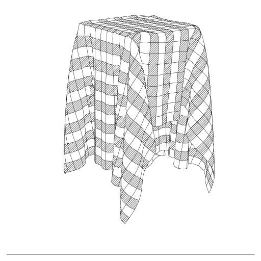 Verlet integration is used to simulate cloth.  The code is not optimized (and very slow) and self-intersection of the cloth is not prevented.   https://en.wikipedia.org/wiki/Verlet_integration  #physics #cloth