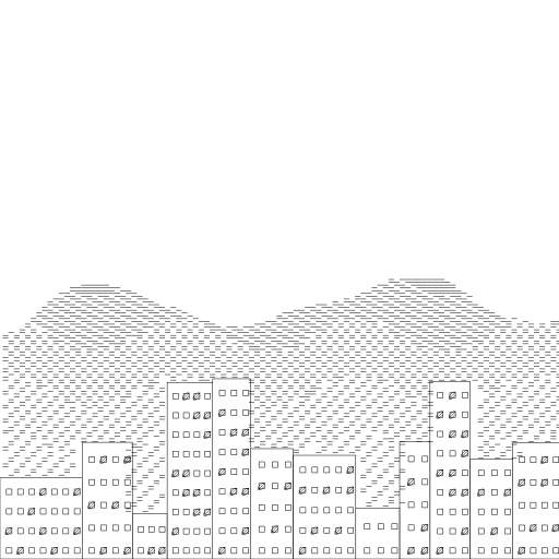 Buildings + Mountains