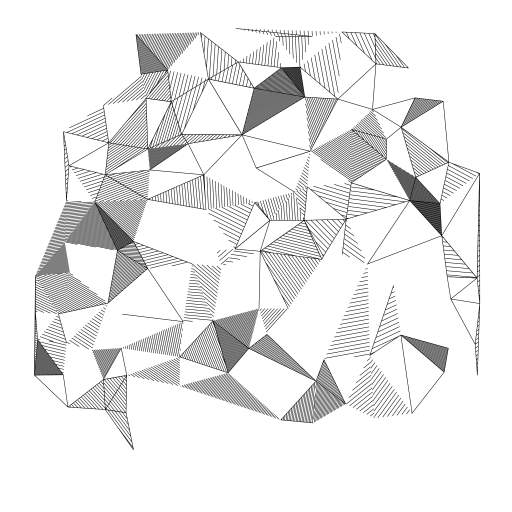 Delaunay triangulation  with some hatching